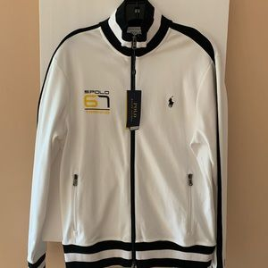Polo NWT vintage sweatshirt medium white black.